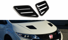 Bonnet Vents Carbon Look for Honda Civic Type R Fk2