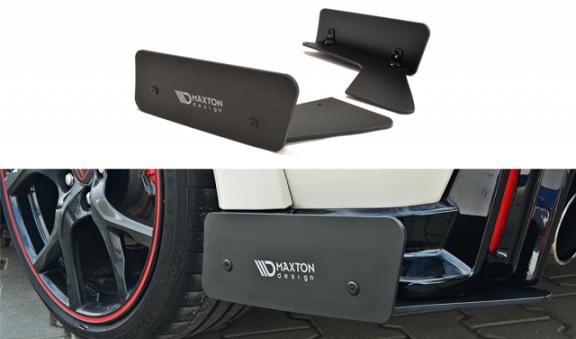 rear bumper racing side splitter for honda civic type r. Black Bedroom Furniture Sets. Home Design Ideas