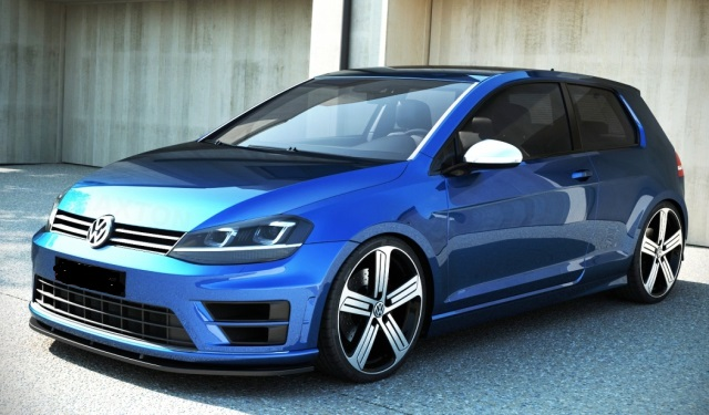 Front Splitter For Vw Golf R Mk7 Fr Amp R Tuning Maha Dyno