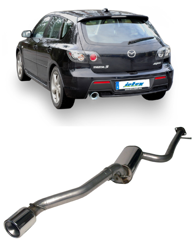 Jetex Cat-Back Resonated Exhaust For Mazda 3 MPS 2.3T Mk1